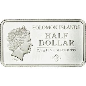 Solomon Islands / 2.5 Grams Silver 2015 Dresden - reverse photo