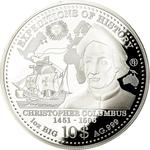Solomon Islands / One Ounce Silver 2013 Christopher Columbus - reverse photo