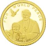 Solomon Islands / Five Dollars Gold 2010 For World Peace - reverse photo