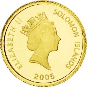 Solomon Islands / Ten Dollars Gold 2005 John Lennon - obverse photo
