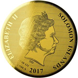 Solomon Islands / Ten Dollars Gold 2017 Indian Head - obverse photo