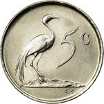 South Africa / Five Cents 1968 Swart (English) - reverse photo