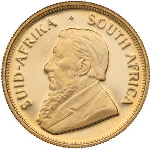 South Africa / Gold Quarter Ounce 1991 Krugerrand - obverse photo