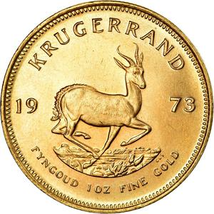 South Africa / Gold Ounce 1973 Krugerrand - reverse photo