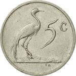 South Africa / Five Cents 1988 - reverse photo