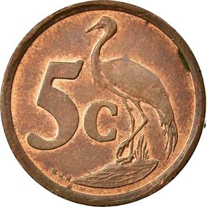 South Africa / Five Cents 1996 - reverse photo