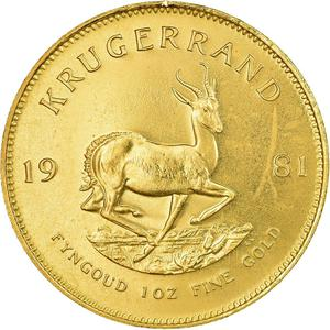 South Africa / Gold Ounce 1981 Krugerrand - reverse photo