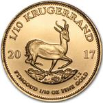 South Africa / Gold Tenth-Ounce 2017 Krugerrand - reverse photo