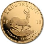 South Africa / Gold Ounce 2010 Krugerrand / Proof with Berlin privy mark - reverse photo