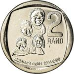 South Africa / Two Rand 2019 Children's Rights - reverse photo