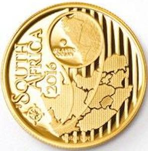 South Africa / Gold Quarter Ounce 2016 CWCBR - North - obverse photo