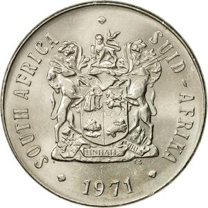 South Africa / Fifty Cents 1971 - obverse photo