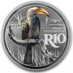 South Africa / Silver Ounce 2019 Hornbill - reverse photo