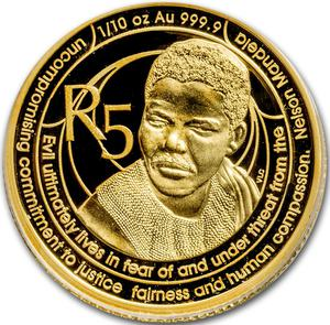 South Africa / Gold Tenth-Ounce 2017 Mandela - Freedom Struggle - reverse photo