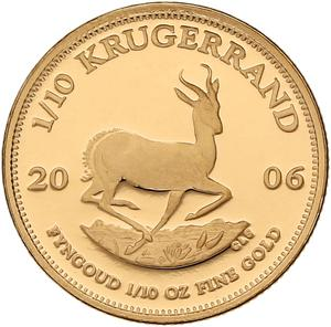 South Africa / Gold Tenth-Ounce 2006 Krugerrand - reverse photo