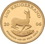 South Africa / Gold Tenth-Ounce 2006 Krugerrand / Proof - reverse photo