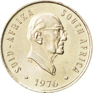South Africa / Five Cents 1976 Fouché - obverse photo