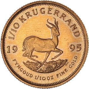 South Africa / Gold Tenth-Ounce 1995 Krugerrand - reverse photo