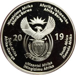 South Africa / Silver Ounce 2019 Constitutional Democracy - obverse photo