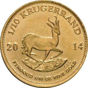 South Africa / Gold Tenth-Ounce 2014 Krugerrand - reverse photo