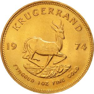 South Africa / Gold Ounce 1974 Krugerrand - reverse photo