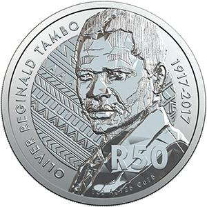 South Africa / Silver Ounce 2017 OR Tambo Centenary - reverse photo