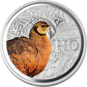South Africa / Silver Ounce 2018 Sandgrouse - reverse photo