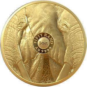 South Africa / Gold Ounce 2019 Big Five - Elephant - reverse photo