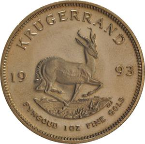 South Africa / Gold Ounce 1993 Krugerrand - reverse photo