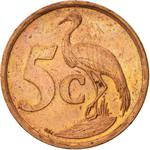 South Africa / Five Cents 1999 - reverse photo