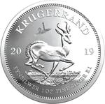 South Africa / Silver Ounce 2019 Krugerrand / Proof with Lunar Lander privy mark - reverse photo