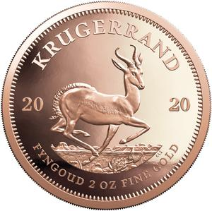 South Africa / Gold Two Ounces 2020 Krugerrand - reverse photo