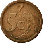 South Africa / Five Cents 1990 - reverse photo