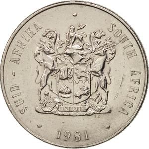 South Africa / One Rand 1981 - obverse photo