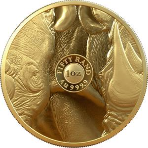 South Africa / Gold Ounce 2020 Big Five - Rhino - reverse photo