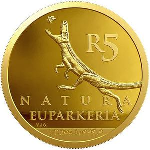 South Africa / Gold Twentieth-Ounce 2018 Rise of the Dinosaurs - reverse photo