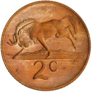 South Africa / Two Cents - reverse photo
