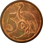 South Africa / Five Cents 2006 - reverse photo