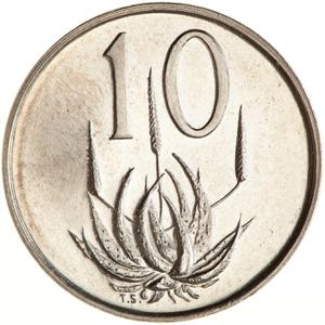 South Africa / Ten Cents 1968 Swart (Afrikaans) - reverse photo