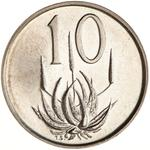 South Africa / Ten Cents 1965 (Afrikaans) / Proof - reverse photo