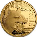 South Africa / Gold Quarter Ounce 2016 Hyena - obverse photo