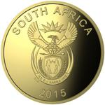 South Africa / Gold Quarter Ounce 2015 Griqua Town - obverse photo