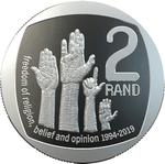 South Africa / Two Rand 2019 Freedom of Religion, Belief and Opinion - reverse photo
