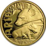 South Africa / Gold Tenth-Ounce 2016 Hyena - reverse photo