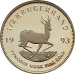 South Africa / Gold Half Ounce 1993 Krugerrand / Proof - reverse photo