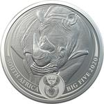 South Africa / Silver Ounce 2020 Big Five - Rhino - obverse photo