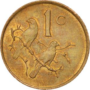 South Africa / One Cent 1985 - reverse photo