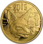 South Africa / Gold Quarter Ounce 2015 Jackal - obverse photo