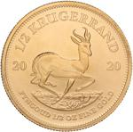 South Africa / Gold Half Ounce 2020 Krugerrand - reverse photo