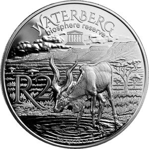 South Africa / Silver Ounce 2018 UNESCO - Kudu - reverse photo